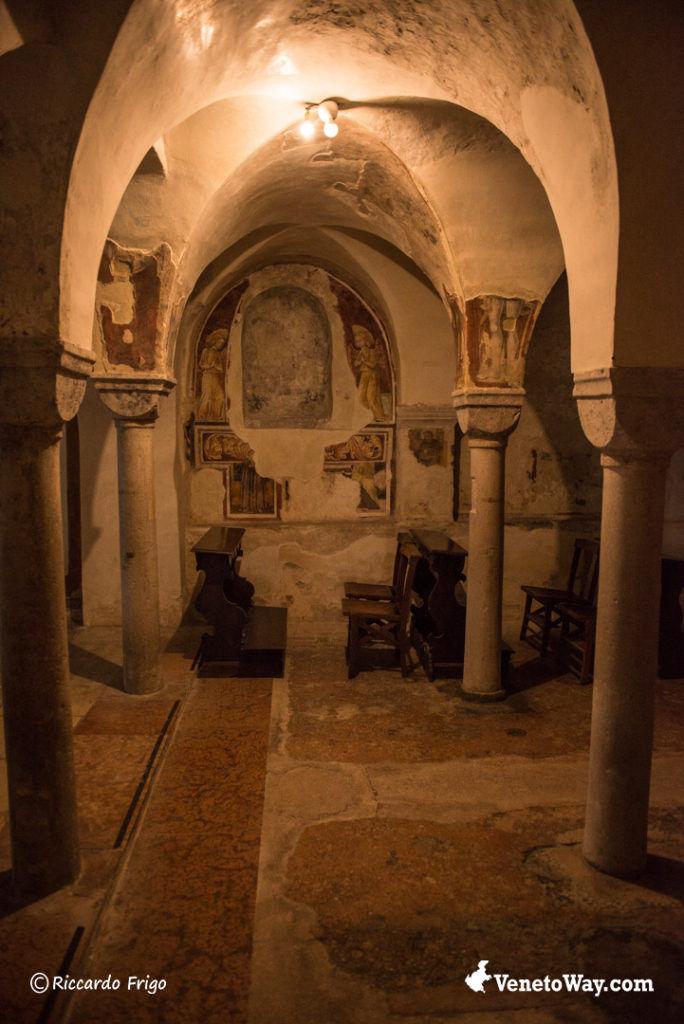 La Cripta della Cattedrale di San Pietro Apostolo o Duomo di Treviso