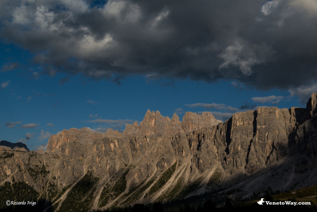 Gruppo del Croda da Lago nelle Dolomiti Ampezzane