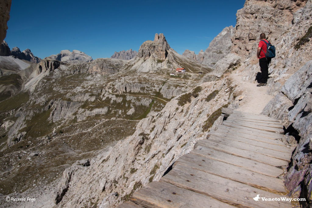 The hiking around Tre Cime di Lavaredo