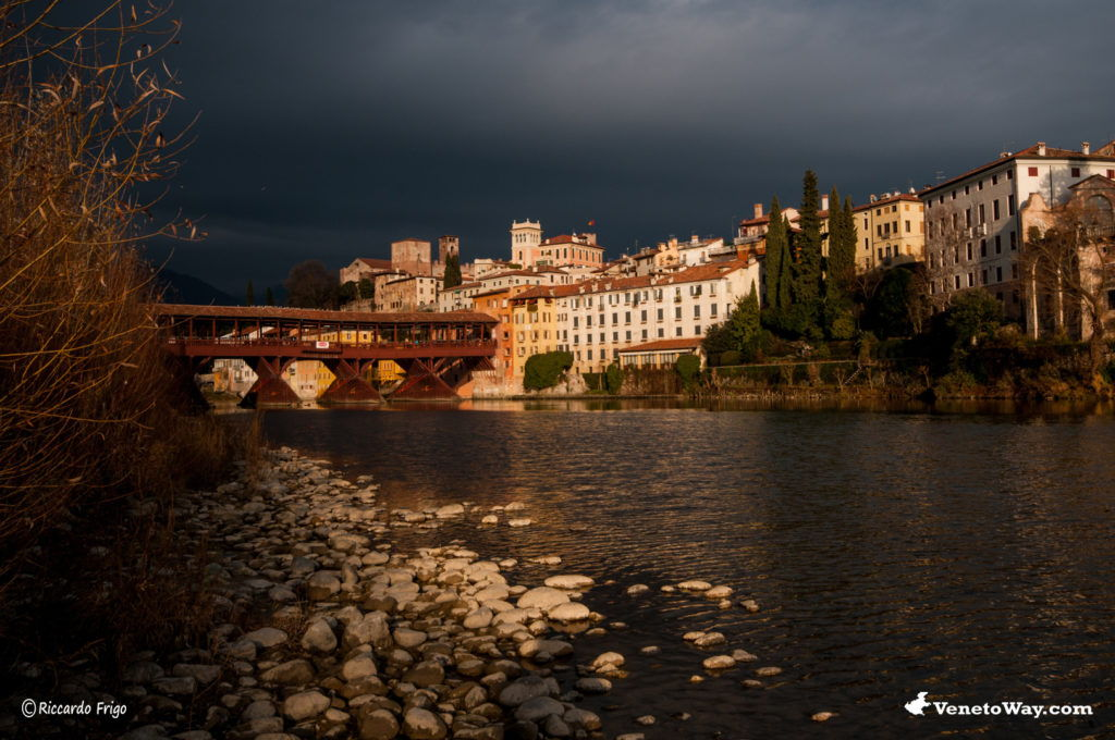 Il Ponte Vecchio di Bassano del Grappa in provincia di Vicenza