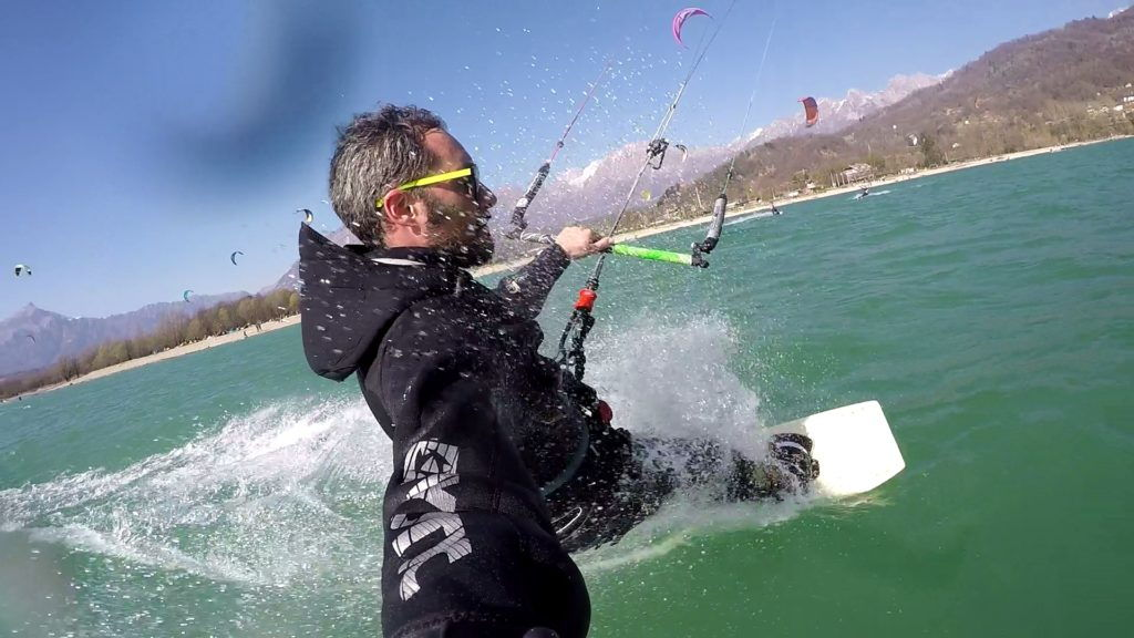 Kitesurf at Lake Santa Croce